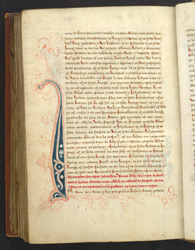 Text In Scots, And A Decorated Initial, In The Cartulary Of Arbroath Abbey